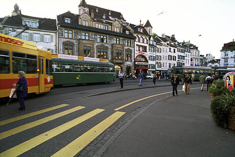 Major tram halt, Basel, Switzerland