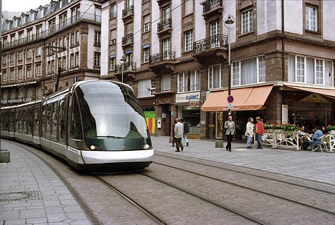 Major street with tram service, Strasbourg
