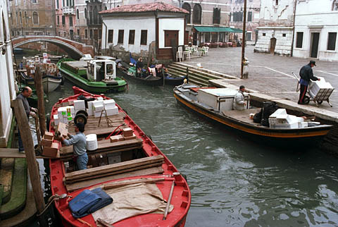 Moving freight in Venice